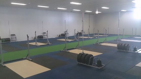 Training area at Weightlifting Academy of Tasmania