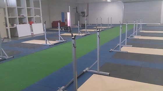 Training area at the Weightlifting Academy of Tasmania