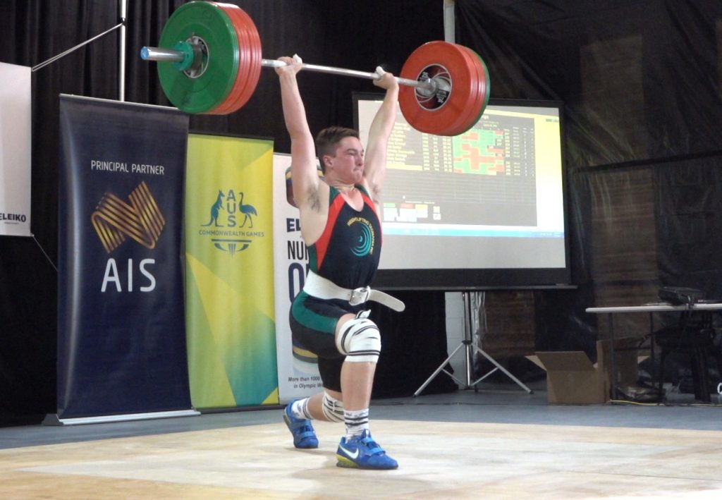 Zac Millhouse with 147Kg in CLean and Jerk