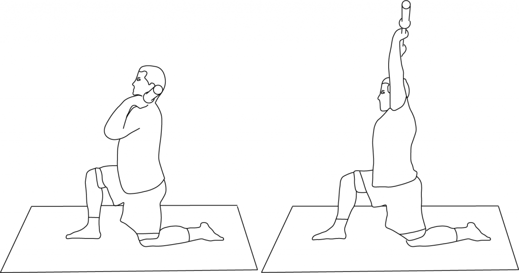 Exercise of the week - press while in split position